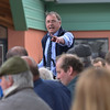 Auctioneer and manager Emyr Lloyd selling vehicles.