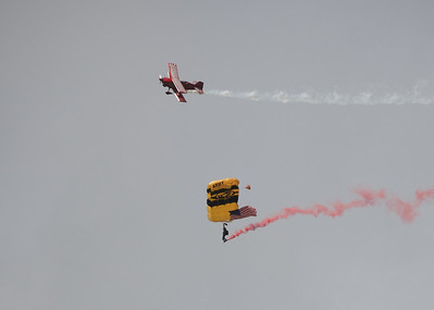 U.S. Army Golden Knights Parachute Team and Red Eagle Air Sports open the show