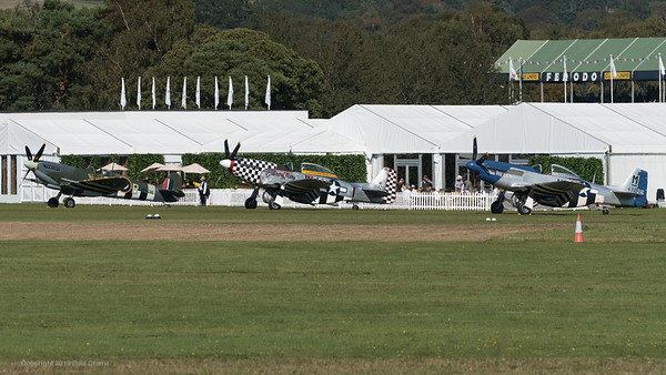 MH434 Contrary Mary and Miss Helen - Spitfire and Mustangs - Goodwood Revival 2019