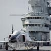 F-4J Phantom II on the flight deck of the USS Yorktown aircraft carrier.