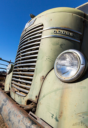 Old Dodge Cab-over truck.
