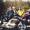 Steve & I with the bikes, somewhere in Rhode Island at a breakfast stop.