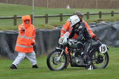 Marshall Gives Directions - 1954 Triumph T110 Derek Crutchlow Kevin Rushworth - 1954 Norton Dominator Clubmans Levi Day Richard Ellis - Barry Sheene Memorial Trophy at the 2016 Goodwood Revival