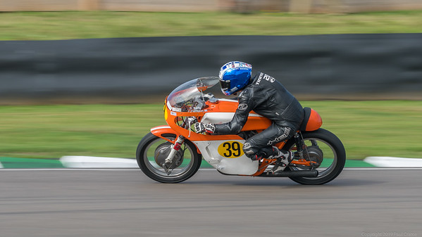 1966 Hansen Honda CR450 - Jenny Tinmouth - Out of the chicane - Goodwood Revival 2019