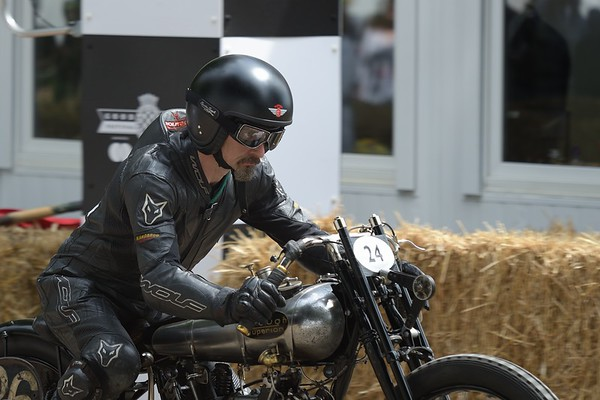 1924 Brough Superior KTOR Startline  Ian Bain - Goodwood Festival of Speed 2017