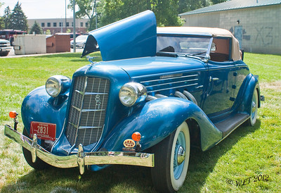 Auburn, This car has beautiful lines and is powered by an eight cylinder super charged Lycoming engine
