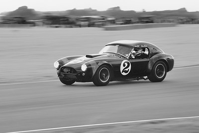 1963 AC Cobra 4743cc  David Hart - Giedo van der Garde - Goodwood Revival 2014 BW