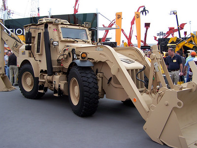Army style backhoe, ConExpo, Las Vegas, 3.08