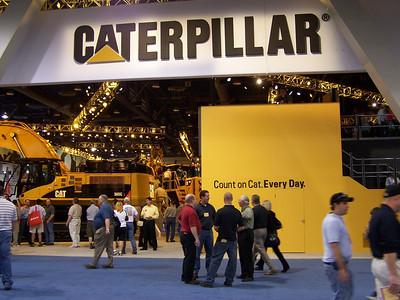 CAT booth, ConExpo, Las Vegas, 3.08