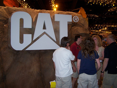 CAT display, ConExpo, Las Vegas, 3.08