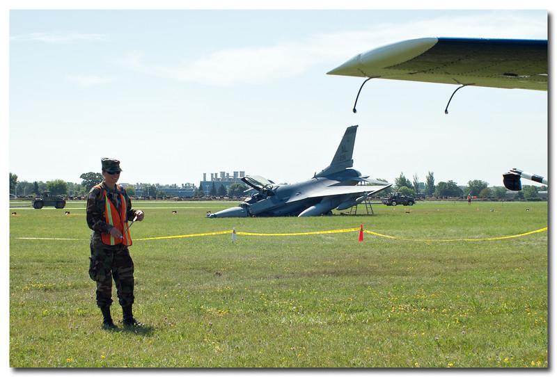 Crashed F-16