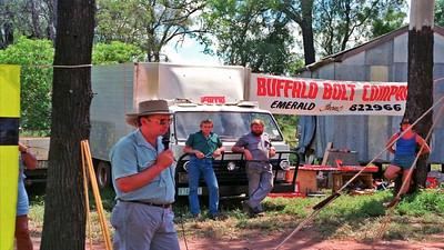 Buffalo Bolt Co of Emerald display just a small part of the engineering products they stock along with high tensile bolts & nuts.   Around 1986 an on farm demonstration was arranged of the amazing Homan blade plow which slices a huge steel arrow shaped blade app. a foot or so below the surface to cut the roots of problem re-growth 'suckers' of mainly brigalow type.
