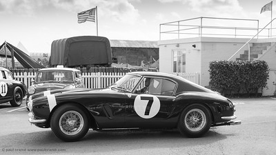 1960 Ferrari 250 GT SWB-C owned by Ross Brawn, once driven by Stirling Moss  bw - The Goodwood Revival 2018