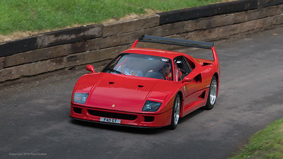 Ferrari F40  - Shelsley Walsh Hill Climb - supercarfest 20th July 2019