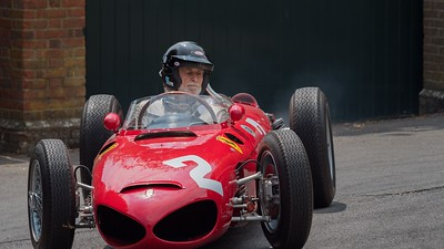 Jason Wright at the wheel of a 1961 Ferrari 156 Sharknose - The Goodwood Festival of Speed 2018