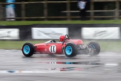 Joe Colasacco 1964 Ferrari 1512 in the rain - Goodwood Revival 2013