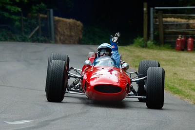 John Surtees and the Ferrari 158 Goodwood Festival of Speed 2014