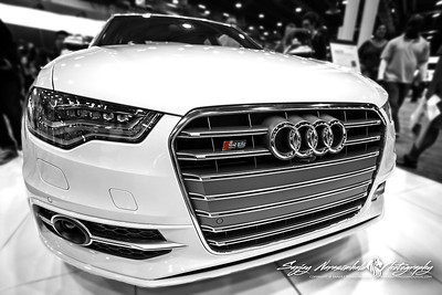 2013 Audi S6 in B&W, Houston Car Show, January 26, 2013
