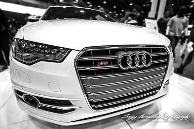 2013 Audi S6 in B&W, Houston Car Show, January 26, 2013
