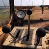 Old crane control panel at Sulina Shipyard, 2005