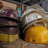 Abandoned helmets at Sulina shipyard, 2005