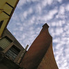 Smoke chimney at Colonia Sedo, Catalunyia, designed by... Antoni Gaudi and built by...Guell ! Around 1905<br /> Picture from 2006