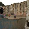 Girl football game at Colonia Sedo dwellings, 2006