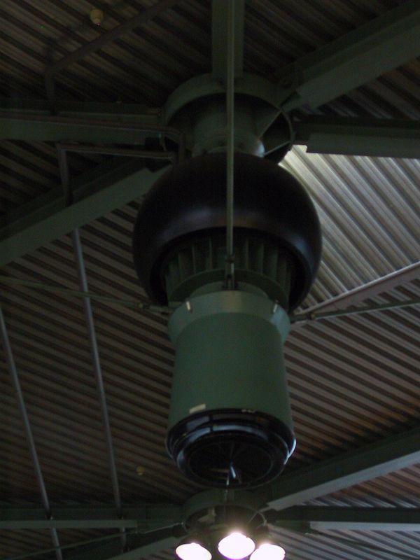 An exhaust vent in Schippol airport near Amsterdam