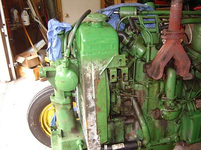 JD 420 water pump reinstall
