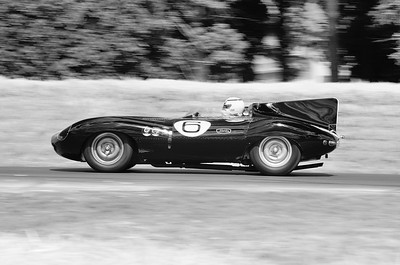 Jaguar D Type Long Nose 1955 3800cc 6 cylinder Andy Wallace Goodwood Festival of Speed 2014 bw