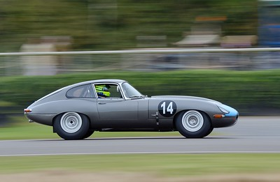 1961 Jaguar E Type FHC Richard Meins Danny Watts CLR- Goodwood Revival 2015