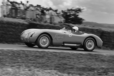 Jaguar C Type 1952 3400cc 6 cylinder Vernon Mackenzie Goodwood Festival of Speed 2014 bw