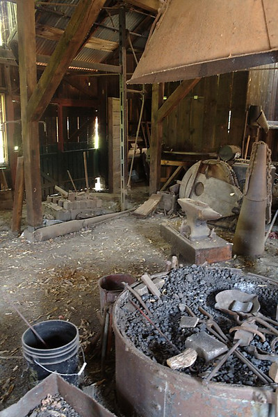 The blacksmith's shop.