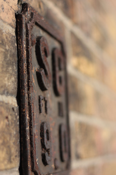 Wallplate outside the museum