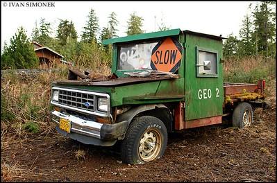 """""""MONSTER TRUCK"""",Coffman Cove,Prince Of Wales island,Alaska,USA."""