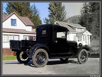 """TODAY AND YESTERDAY"", 1928 Ford A, still in service. Wrangell, Alaska, USA.-----""DNES A VCERA"", Ford A  z  r.1928 stale slouzi. Wrangell, Aljaska, USA."