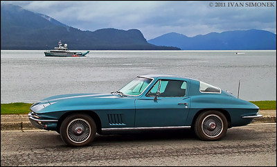 """STING RAY 1"",1967 Corvette,Wrangell,Alaska,USA."