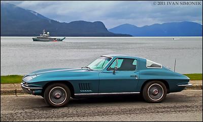 """STING RAY 1"",1967 Corvette,Wrangell,Alaska,USA."