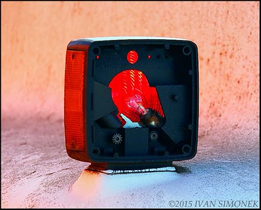 """RED TURN SIGNAL"", Wrangell, Alaska, USA."