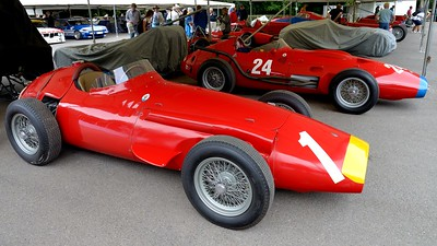 1957 Maserati 250F 2500cc 6 Cylinder and a 1957 Maserati 250F 2500cc V12 Goodwood Festival of Speed 2014