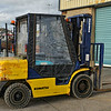 Komatsu forklift truck, seen at Portavogie harbour on the 21st February 2014.