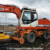 Daewoo Solar 170 W-III Road/Rail excavator at Downpatrick Railway Station