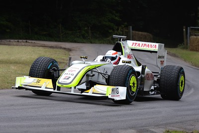 Brawn Mercedes BGP 001 driven by Martin Brundle at the Goodwood Festival of Speed 2016