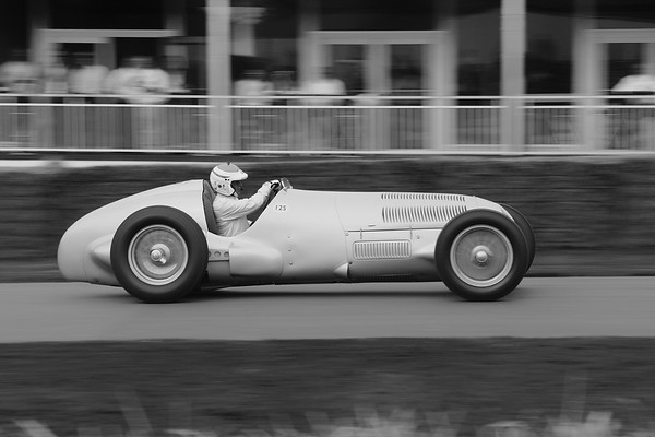 Mercedes Benz W125 1937 5700cc supercharged 8 cylinder Roland Asch Festival of Speed 2014 BW