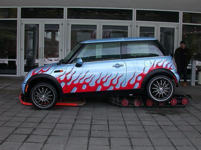 Monster Garage Snowmobile Mini Cooper