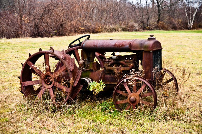 Old Rusted Fordson Tractor by