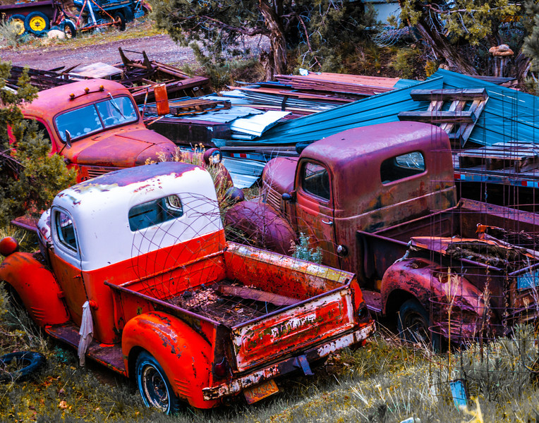 Where old pickups go to die.