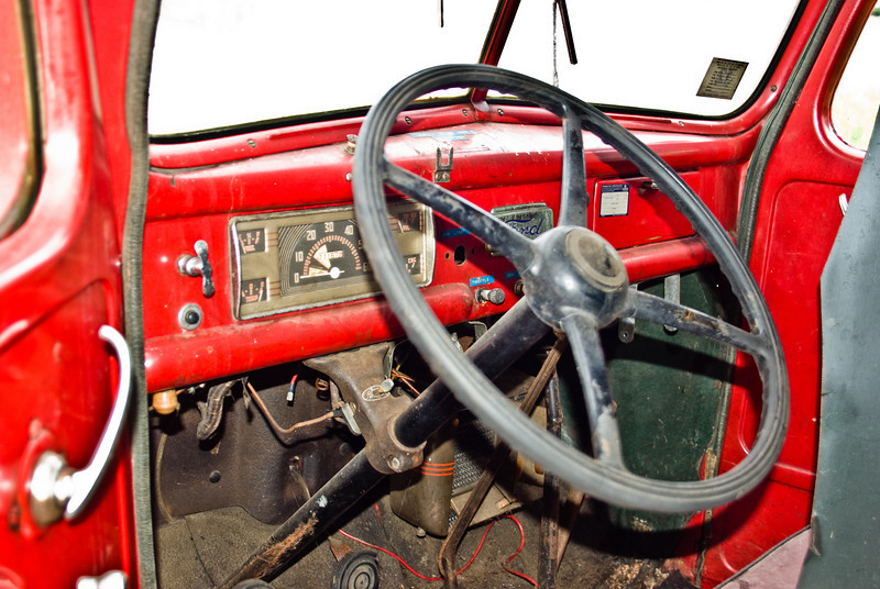 Interior of the cab.