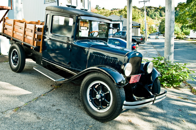1929, Dodge Bros. Pick-up with woody bed.