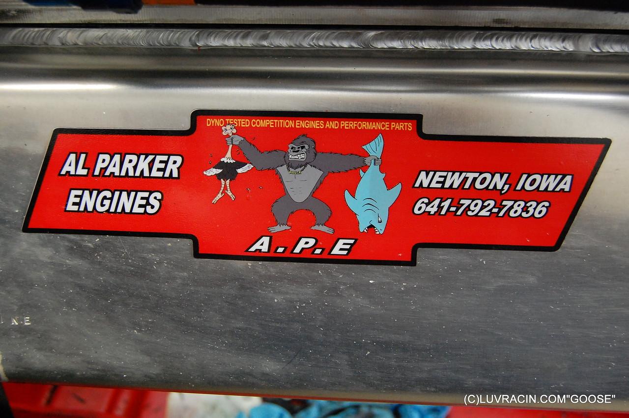 """A . P . E . """" AL PARKER ENGINES  """" Photo by A P E  """" A PLANTINUM ENT. """""""